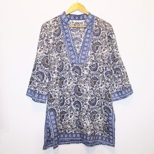 Tory Burch Blue Cover Up Tunic M